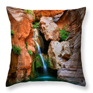 Elves Chasm Throw Pillow by Inge Johnsson