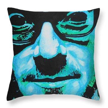 Elvis Costello Throw Pillow by Bonnie Cushman