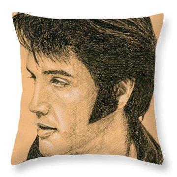 Elvis Las Vegas 69 Throw Pillow by Rob De Vries