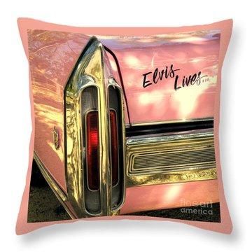 Elvis Lives Throw Pillow by Joe Jake Pratt