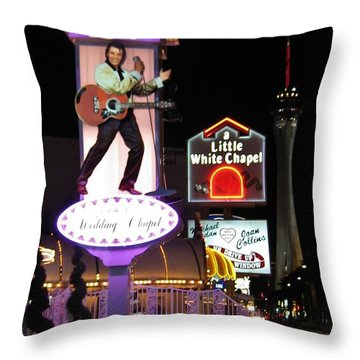 Elvis Lives Throw Pillow by John Malone