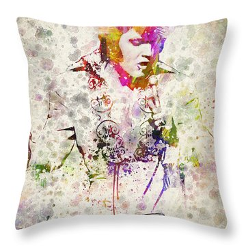 Elvis Presley Throw Pillow by Aged Pixel