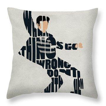 Elvis Presley Throw Pillow by Ayse Deniz