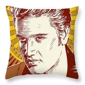 Elvis Presley Pop Art Throw Pillow by Jim Zahniser