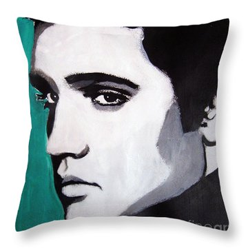 Elvis Throw Pillow by Venus