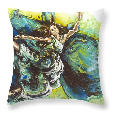 Embrace Throw Pillow by Karina Llergo