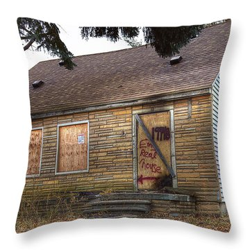 Eminem's Childhood Home Taken On November 11 2013 Throw Pillow by Nicholas  Grunas