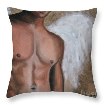 Emmanuel  Throw Pillow by Jindra Noewi