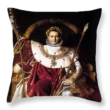 Emperor Napoleon I On His Imperial Throne Throw Pillow by War Is Hell Store