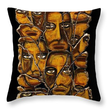 Empyreal Souls No. 5 Throw Pillow by Steve Bogdanoff