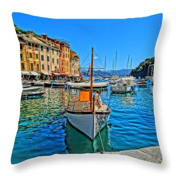 Enchanting Portofino In Ligure Italy Iv Throw Pillow by M Bleichner