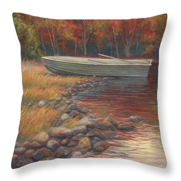 End Of The Day Throw Pillow by Lucie Bilodeau