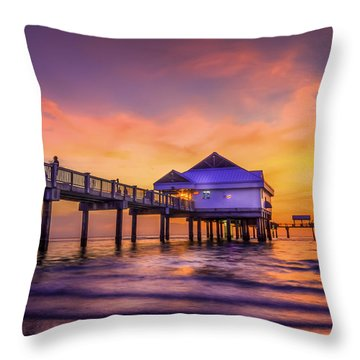 End Of The Day Throw Pillow by Marvin Spates