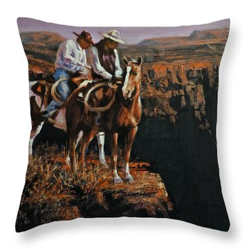 End Of The Trail Throw Pillow by Mia DeLode