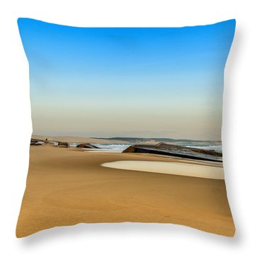 Throw Pillow featuring the photograph End Of The World by Thierry Bouriat