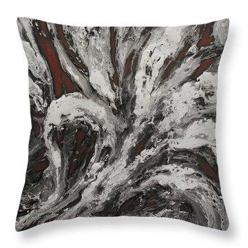 Energy II Throw Pillow by Karen Kliethermes
