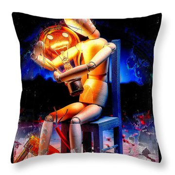 Energy Love Throw Pillow by Mauro Celotti
