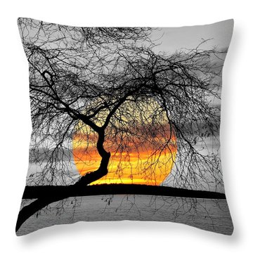 English Bay Sunset Throw Pillow by Brian Chase