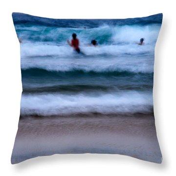 enjoy the ocean I Throw Pillow by Hannes Cmarits