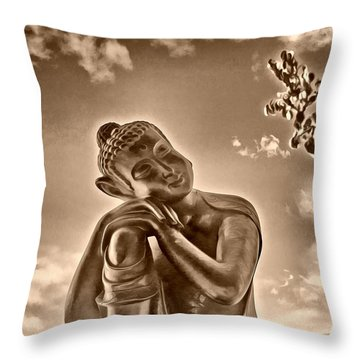 Enlightenment 2 Throw Pillow by Cheryl Young