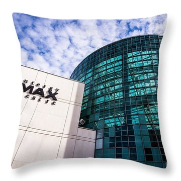 Entergy Imax Theatre In New Orleans Throw Pillow by Paul Velgos