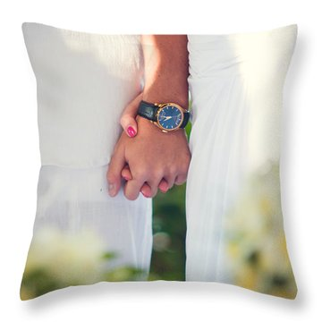 Entrusting Myself To You  Throw Pillow by Jenny Rainbow