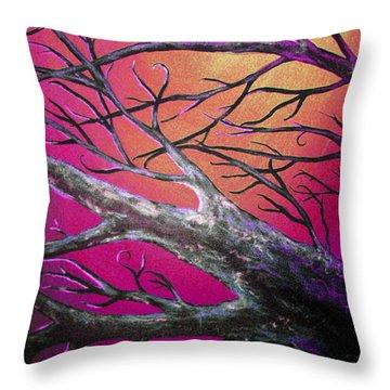 Epic Eclipse Panel 3 Throw Pillow by Teshia Art