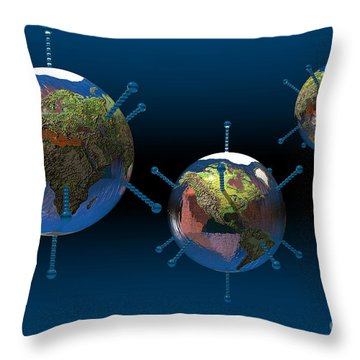 Epidemic Throw Pillow by Carol and Mike Werner
