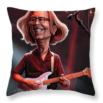 Eric Clapton Throw Pillow by Andre Koekemoer