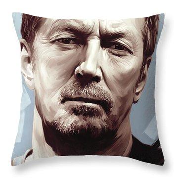Eric Clapton Artwork Throw Pillow by Sheraz A