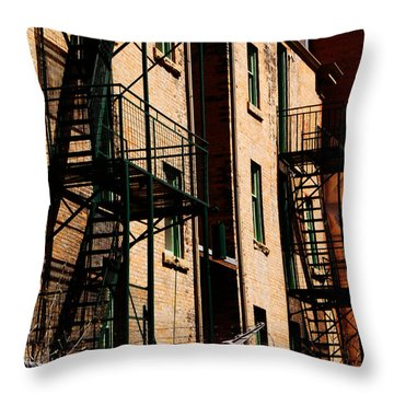 Escape Throw Pillow by Trever Miller