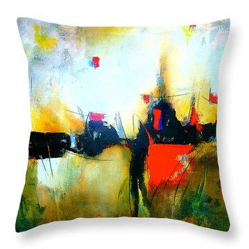 Espejismos Throw Pillow by Thelma Zambrano