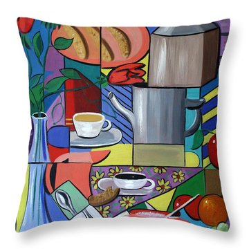 Espresso Throw Pillow by Anthony Falbo