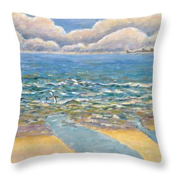 Evening North Myrtle Beach Throw Pillow by Patricia Eyre