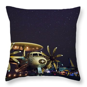 Evening On The Carrier Throw Pillow by Mountain Dreams
