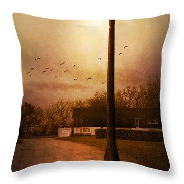 Evening Street Throw Pillow by Svetlana Sewell