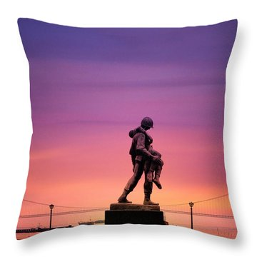 Everyday Is Memorial Day Throw Pillow by Bill Cannon