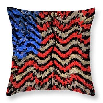 Exploding With Patriotism Throw Pillow by John Farnan