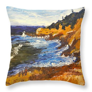 Exploring On The Rocks  Throw Pillow by Pamela  Meredith