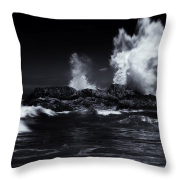 Explosion Throw Pillow by Mike  Dawson