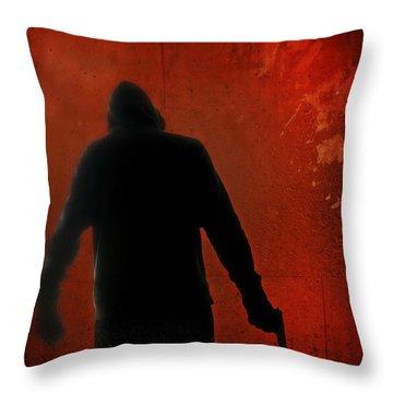 Explosive Throw Pillow by Edward Fielding