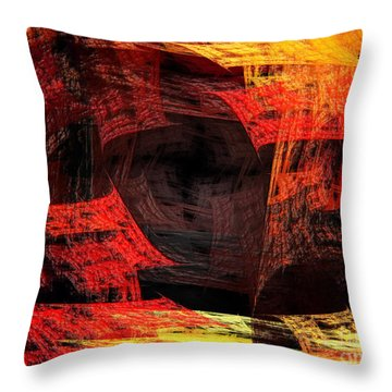 Eye Of The Storm 2 - Blown Away - Abstract - Fractal Art Throw Pillow by Andee Design