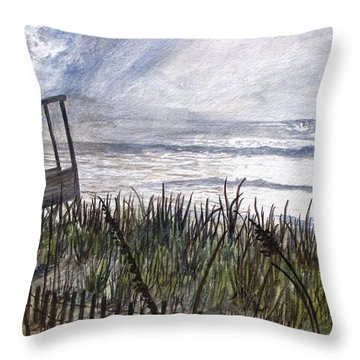 Eye Of The Storm Throw Pillow by Kevin F Heuman