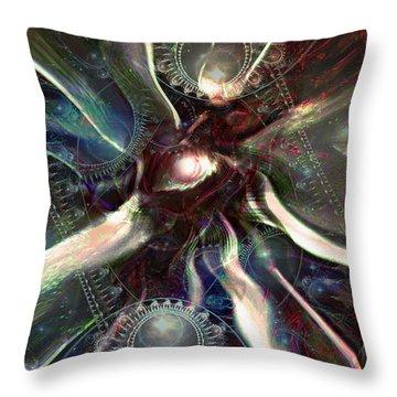 Eye Of The Universe Throw Pillow by Linda Sannuti