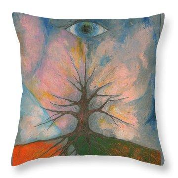 Eye Throw Pillow by Wojtek Kowalski