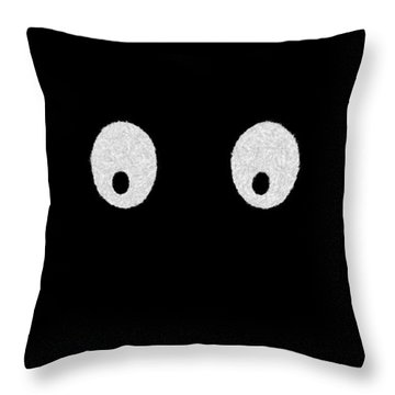Eyes - My Eyes Are Up Here Throw Pillow by Mike Savad