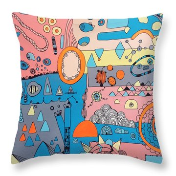 Eyeshut Scene Throw Pillow by Susan Claire