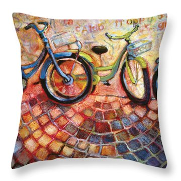 Fa Caldo Troppo Guidare Throw Pillow by Jen Norton