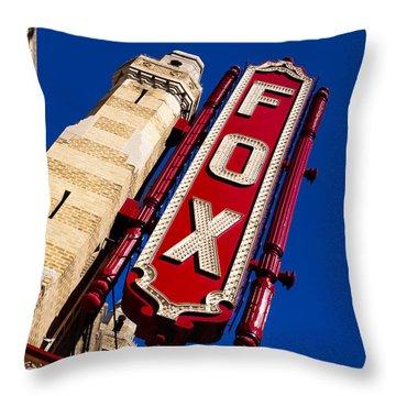 Fabulous Fox In Atlanta Throw Pillow by Mark E Tisdale