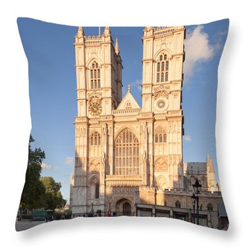 Facade Of A Cathedral, Westminster Throw Pillow by Panoramic Images